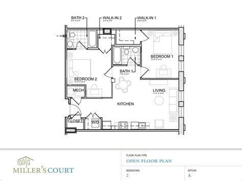 2 floor plans 2 bedroom house plans open floor plan photos and