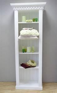 Regal Weiß Landhaus : badregal holz schmal cool weis holz schmal hochglanz schmale badezimmer hoch breit tief regal ~ Orissabook.com Haus und Dekorationen