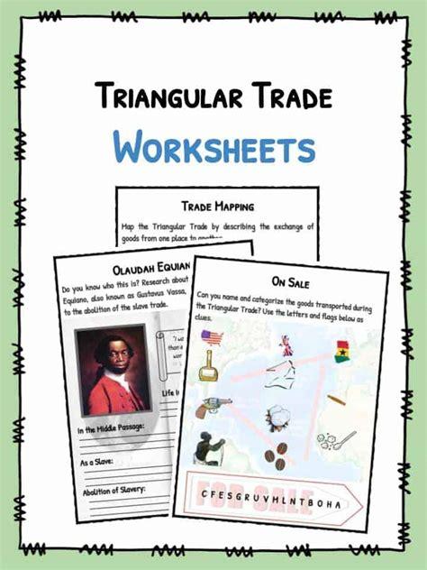 trade worksheets grade 6 triangular trade transatlantic trade facts