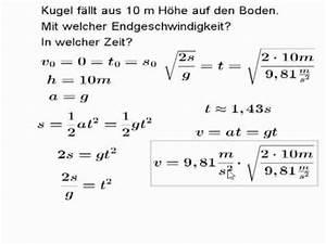 Physik Beschleunigung Berechnen : der freie fall als beschleunigte bewegung lernzuflucht hagen podcast oberstufe physik youtube ~ Themetempest.com Abrechnung