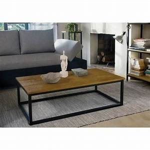Pied De Table Basse Metal Industriel : facto table basse style industriel plateau plaqu ch ne ~ Teatrodelosmanantiales.com Idées de Décoration