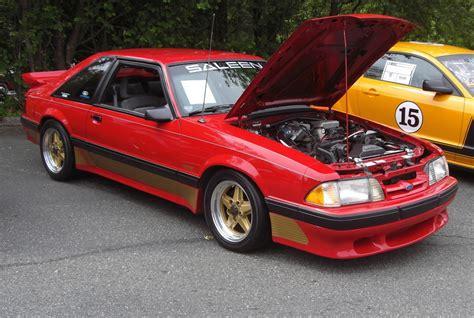 Scarlet Red 1989 Saleen Ford Mustang Hatchback