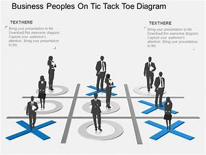 Md Business Peoples On Tic Tack Toe Diagram Flat