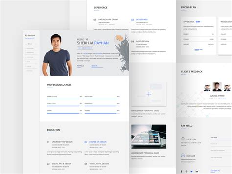 Personal Cv Website Template by Psd Website Templates Part 11 Mooxidesign