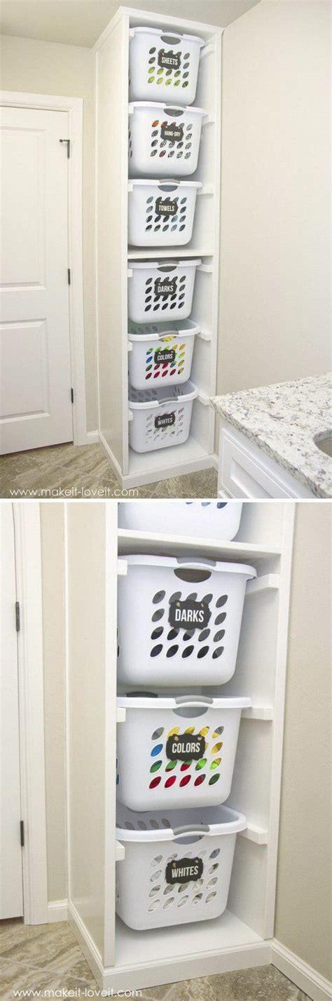 25 best ideas about laundry basket shelves on pinterest