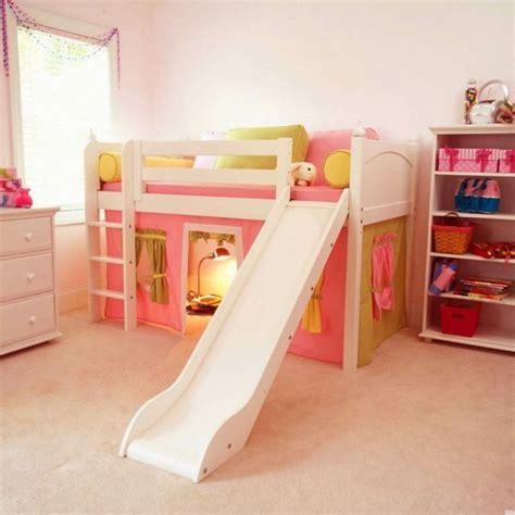 Kinderzimmer Für Mädchen Hochbett Design Mit Rutsche