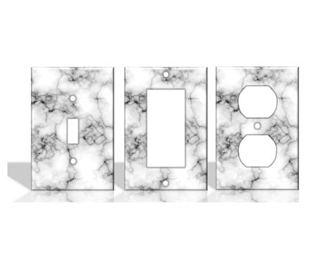 marble white light switch covers home decor outlet ebay