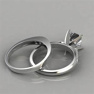 Cathedral Pav Engagement Ring And Wedding Band Set