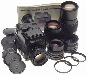 Rolleiflex Sl 2000 F Motor 35mm Film Camera Kit 5 Lenses