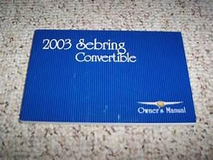 2003 Chrysler Sebring Convertible Owner Manual User Guide
