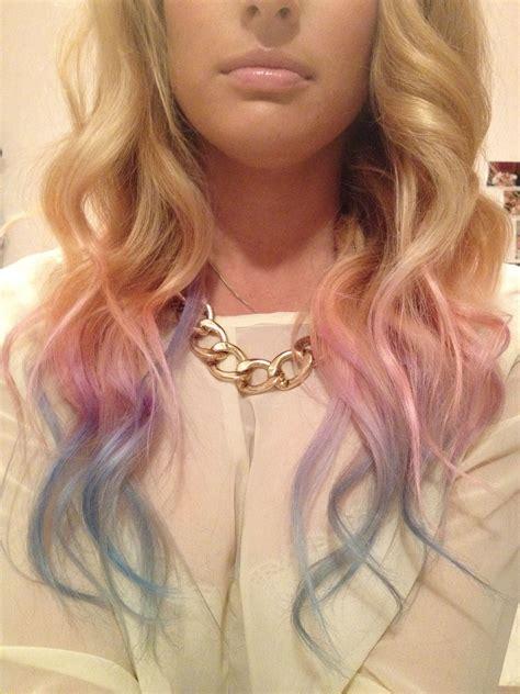 Diy Pink Purple Blue Pastel Dip Dye I Did A Dark Purple