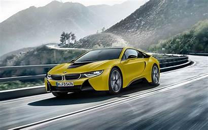 Bmw I8 4k Yellow Frozen Edition Wallpapers