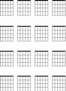 Chord Diagrams For Guitar Printable Crafts