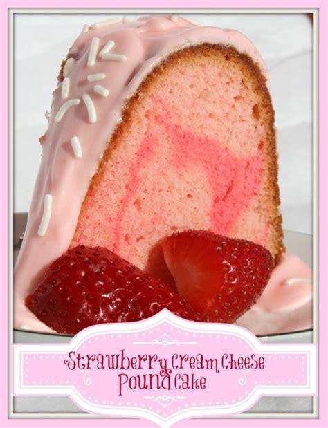 strawberry cheese pound cake recipe chefthisup