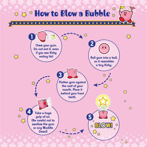 how to get gum kirby teaches you how to blow a chewing gum bubble my nintendo news