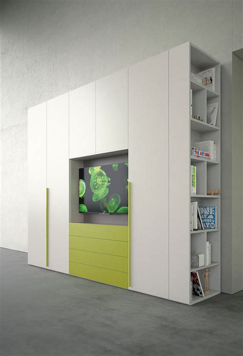 armadio con libreria armadio con spazio tv start tv clever it
