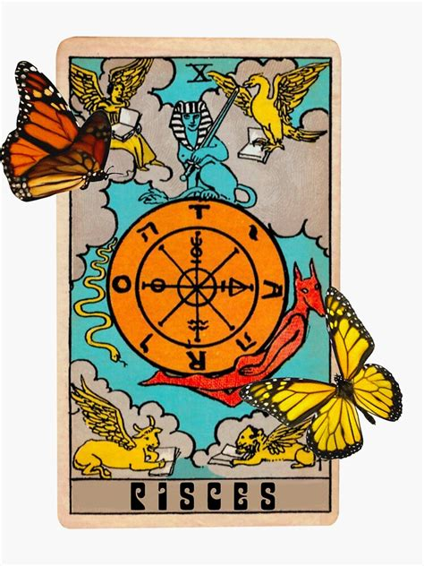 """What does your best 2021 look like, dear pisces? """"Pisces Tarot card zodiac sign """" Sticker by angelslover ..."""