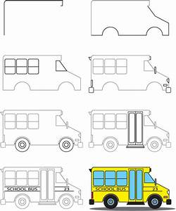 How To Draw a School Bus | Kid Scoop