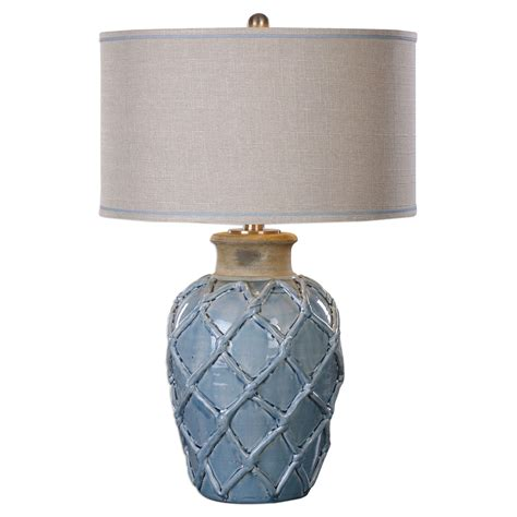 koncept lighting parterre coastal style pale blue ceramic table l with