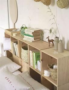 Idee Deco Tete De Lit : diy chambre 3 t tes de lit faire soi m me deco tete de lit etagere meuble tete de lit ~ Melissatoandfro.com Idées de Décoration