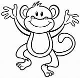 Monkey Coloring Pages Baby Africa sketch template