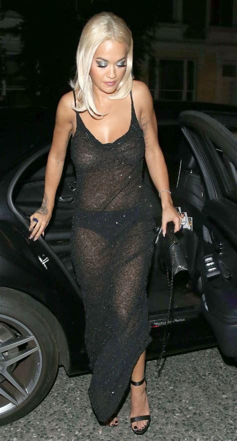 Rita Ora Flashing Her Amazing Tits Through Dress