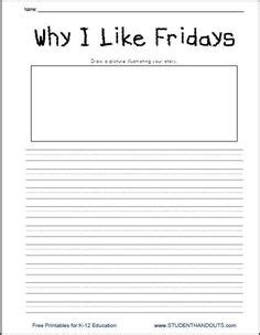 why i like fridays writing prompt free printable