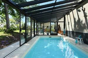 veranda piscine interieure piscine pinterest veranda With prix veranda piscine couverte