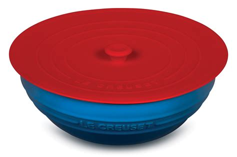 le creuset cherry red silicone lid  cutlery