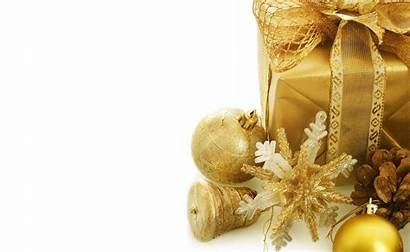 Christmas Decorations Gift Gold Wallpapers Decoration Holiday