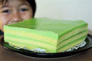 B Tuang Santan Masukkan Telur Fnf Simple Pandan Layered Cake