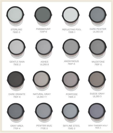 some of the best grays and are made by behr this
