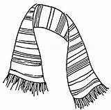 Scarf Drawing Coloring Drawings Pages Colouring Striped Scarves Draw Knit Coat Printable Theater Stuff Tie Easy Picolour Cool Clothes Play sketch template