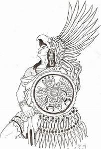 Aztec Eagle Warrior Head Aztec eagle warrior tattoo