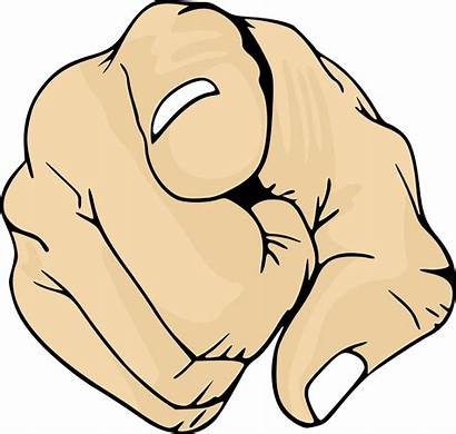 Pointing Finger Clipart Point Transparent Openclipart Svg