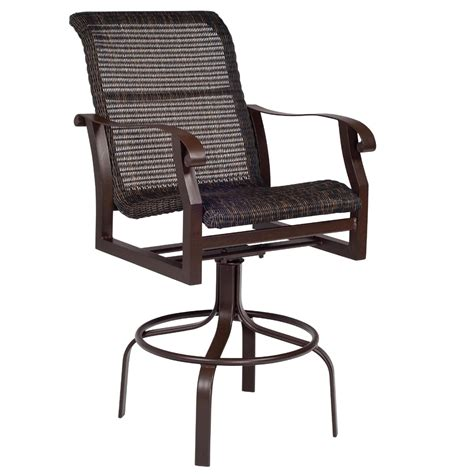 woodard cortland woven swivel bar stool 5v0468