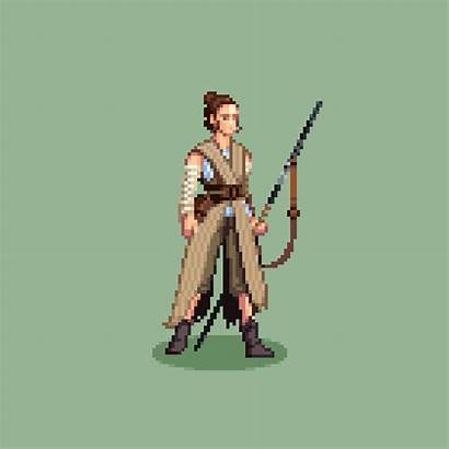 Character Animation Rey Own Pixel Improve Pondering