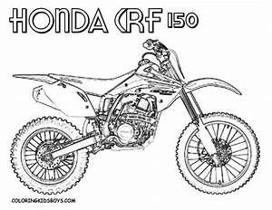 coloriage motocross honda crf dessin gratuit a imprimer With honda 400 dirt bike