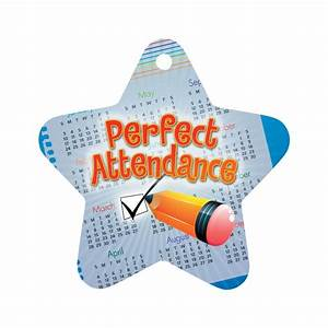 """Perfect Attendance Checkmark Star Award Tag With 4"""" Chain ..."""