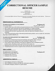Correctional officer resume sample law resumecompanion for Correctional officer resume