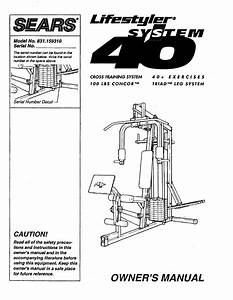 Sears Elliptical Trainer 831 15931 User Guide