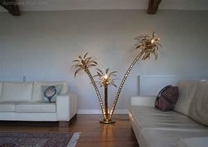 Antiques atlas 197039s vintage italian brass palm tree for Tree floor lamp uk