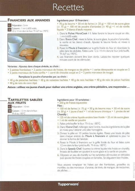 recette de cuisine tupperware fiche recettes moule silicone à financiers céline tupperware