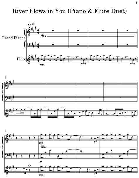 Find your perfect arrangement and access a variety of transpositions so you can print and play instantly, anywhere. River Flows in You (Piano & Flute Duet) - Sheet music for Piano, Flute