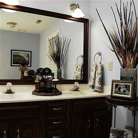 Bathroom Mirror Decorating Ideas by Before After Bathroom Mirror Makeovers Hooked On Houses