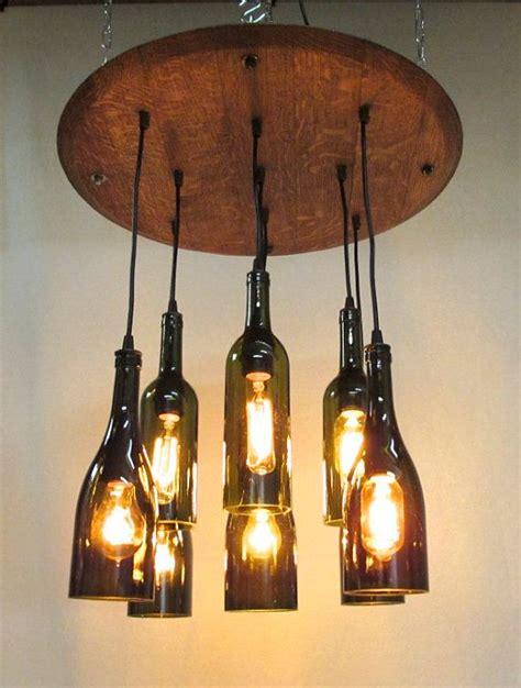 9 light wine bottle barrel top chandelier ceiling