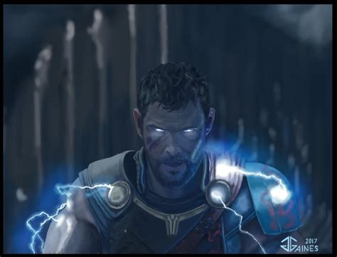 thor ragnarok bringing the lightning by gkgaines on