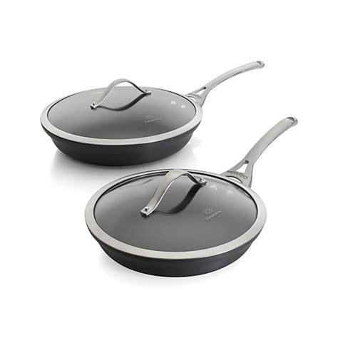 calphalon contemporary  stick  piece fry pan set  lids