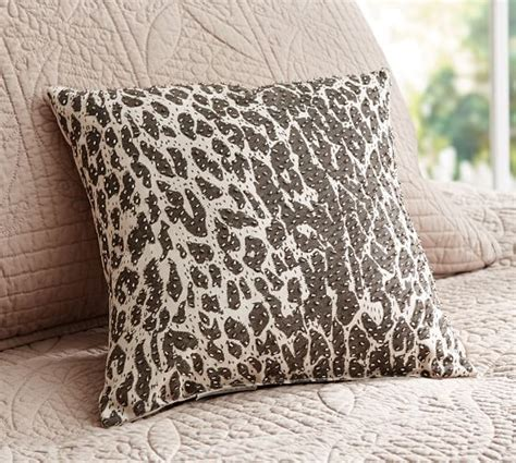 leopard beaded dec pillow cover pottery barn
