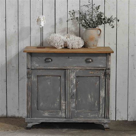 distressed gray cabinets vintage distressed grey painted european cupboard